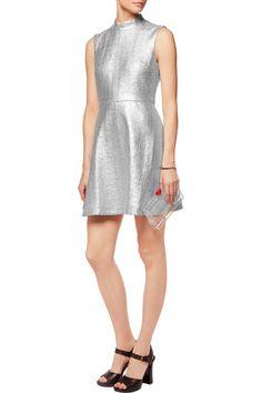 Markus LupferSavannah metallic cotton-blend mini dress