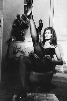 Sophia Loren, Modern Style: Giulietta Designer Sofia Sizzi On the Italian Bombshell's Best Onscreen Looks Vintage Hollywood, Hollywood Glamour, Celebrities In Stockings, Carlo Ponti, Divas, Sophia Loren Images, Cinema Tv, Italian Beauty, Italian Women