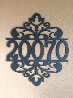 Made to Order - Ornate Address Sign by MyMetalWorks on Etsy