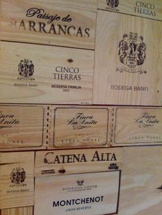 Create a some interest using wood panels from wine boxes on your walls. Perfect for wine room or bar area.