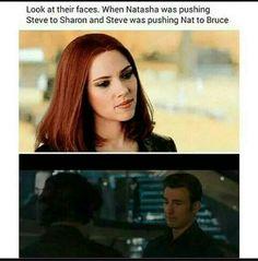 Natasha - Steve - Captain America: The Winter Soldier - Age of Ultron Marvel Dc, Marvel Heroes, Marvel Comics, Marvel Jokes, Avengers Memes, Black Widow Movie, Romanogers, Natasha Romanoff, The Villain