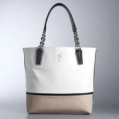 e61c1566d9fc4 Simply Vera Vera Wang Catherine Tote Simply Vera, White Purses, White  Handbag, Tote