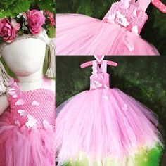 Pink butterfly FLOWERGIRL dress, FAIRY dress, Butterfly dress, Tulle tutu, Bridemaid dress, party dress, Cosplay, dress up, Wedding, Bridal by TheLittleLilacFaerie on Etsy