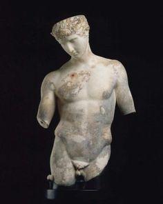 Mercury (Hermes), Roman statue (marble), 1st century AD, (Museum of Fine Arts, Boston).