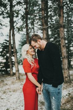 "See the stunning ""Winter Wonderland"" engagement photo session the 'Dancing with the Stars' pro Witney Carson and her fiance Carson McAllister shared! Shooting Photo Couple, Couple Posing, Couple Shoot, Family Posing, Winter Engagement Photos, Engagement Couple, Engagement Pictures, Engagement Session, Couple Photography"