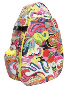 SlamGlam - Life Is Tennis JetPac Paisley Chic Large Tennis Sling ,