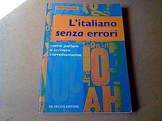 libro L'ITALIANO SENZA ERRORI - Carla Franceschetti - #italiano #gramamtica #libri