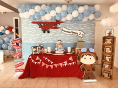59 Trendy Baby Shower Ideas For Girls Purple Turquoise Party Favors Boys First Birthday Party Ideas, Birthday Themes For Boys, Baby Boy Birthday, Boy Birthday Parties, 3rd Birthday, Planes Birthday, Planes Party, Time Flies Birthday, Festa Hot Wheels