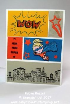 The Everyday Hero stamp set is perfect for those comic booking loving friends or parents. With all of the Super Girl, Arrow or Marvels TV shows out there, I bet this will be a favorite. http://www.robynsroost.stampinup.net