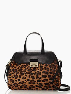 in small doses, leopard print can serve as a neutral;  this gorgeous bag deploys the pattern judiciously for a look that's better than basic black — the alice street luxe adriana by kate spade new york. (october 2014)
