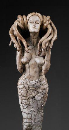 What Do the Snakes Whisper to Medusa by SculpturesByRex on Etsy, $300.00
