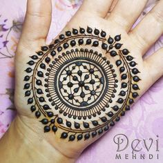 """92 Likes, 1 Comments - Devi Mehndi (@devimehndi) on Instagram: """"A new mandala design inspired by the incredible @hennackg. I added a little something of my…"""""""