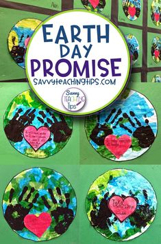 We glued down blue and green tissue. The kids added black handprints. Finally we wrote our promises to the Earth on a heart and glued it in the middle. Super Easy and Looks Great! Teaching Sight Words, Sight Word Activities, Art Activities, Writing Lessons, Teaching Writing, Teaching Tips, First Year Teachers, Happy Earth, Elementary Science