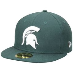 Michigan State Spartans New Era Basic 59FIFTY Fitted Hat - Green 93cfdd12db4