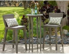 Ordinaire Outback Company Manzano All Weather Wicker Bar Height Patio Bistro Set  Contemporary Patio Furniture And Outdoor Furniture