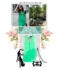 """""""Green."""" by zeljkaa ❤ liked on Polyvore featuring Camp, Revé, Simone Rocha, Yves Saint Laurent, Chanel and DANNIJO"""