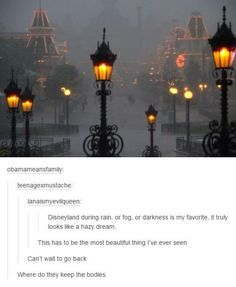I remember we went to Disney World before and it started raining insanely hard. It was honestly a beautiful sight in a eerie way because the streets were all cleared. Disney Pixar, Disney Memes, Disney And Dreamworks, Disney Parks, Walt Disney, Disney Funny Tumblr, Disney Love, Disney Magic, Kubo And The Two Strings