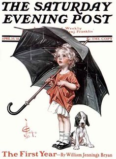 April Showers by J.C. Leyendecker,  April 25, 1914, The Saturday Evening Post