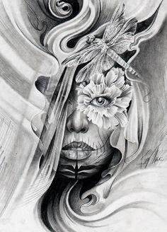 Day of the Dead Artwork by Tattoo Artist Tony Mancia