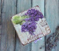 Lavender box Rustic box Lavender Decor Purple от ArtDecoMoldova