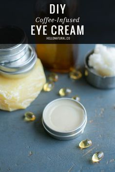 DIY: Coffee-Infused Eye Cream to Fight Fine Lines | http://hellonatural.co/coffee-infused-eye-cream/