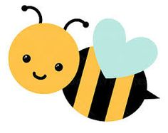 cute bee clipart clipart panda free clipart images art rh pinterest com bumble bee clip art images free bumble bee clip art black and white