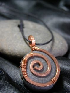 upcycled recycled jewelry hand hammered copper wire wrap
