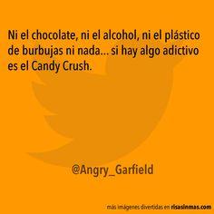 Ni el chocolate, ni el alcohol, ni el plástico de burbujas ni nada... si hay algo adictivo es el Candy Crush