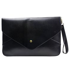 Womdee(TM) Elegant Lady's Women's Envelope Clutch Chain Purse Handbag Shoulder Hand Tote Bag-Black With Accessory * You can get more details at