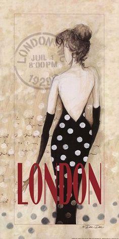 London Lady CROSS STITCH PATTERN 388 by Maxispatterns on Etsy, €5.90