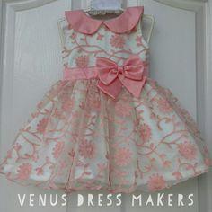 #prettydress #venusdressmakers Baby Girl Frocks, Frocks For Girls, Dresses Kids Girl, Kids Outfits, Frock Patterns, Baby Girl Dress Patterns, Baby Dress Design, Baby Frocks Designs, Kids Frocks Design