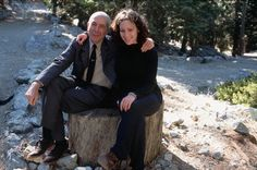 Leonard Cohen with his daughter Lorca (1995)