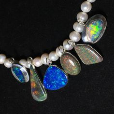 NEW: Beautiful Opal Pendants with Pearls (Boulder doublet Opal & Andamooka Opal) ... in our shop ... and more is coming soon 🎉🌹🔴 Holiday season Free FedEx shipping (3-5 days) 🎉🌹🌷❤️️