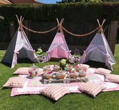 Fun Idea for a girls party or sleepover! Sleepover Party, Spa Party, Slumber Parties, Party Fun, Camping Parties, Outdoor Parties, Picnic Parties, Backyard Parties, Backyard Wedding Decorations