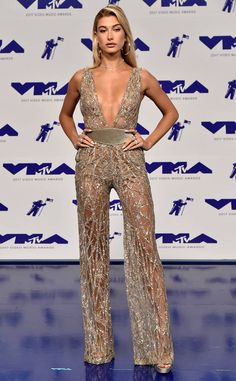 Hailey Baldwin from MTV Video Music Awards 2017: Red Carpet Arrivals