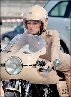 Chanel looking particularly awesome with Kiera Knightly on motorbike. #fashion #trends