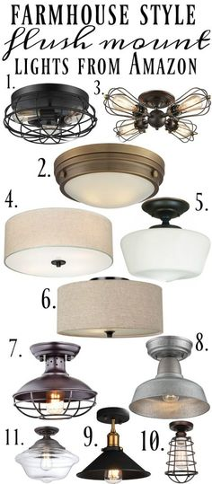Farmhouse Flush Mount Lights