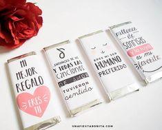 Envolturas para chocolates San Valentín