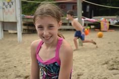 Playing in the sand at overnight camp