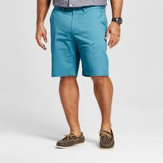 Men's Big & Tall Club Shorts Turquoise 46 - Merona