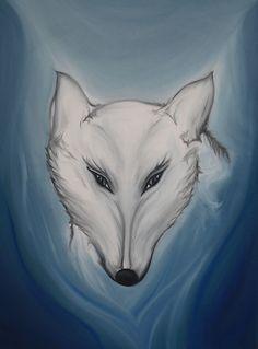 Wolfsherz Ölgemälde