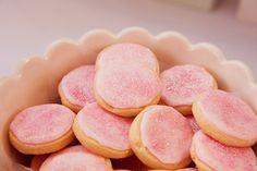 Pink glitter cookies