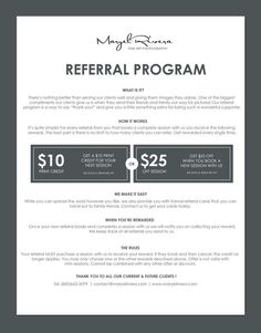 Did you see our new Referral Program for Karli Jean Photography? Photography Contract, Photography Pricing, Photography Marketing, Photography 101, Photography Business, Photography Tutorials, Amazing Photography, Photography Classes, Web Design