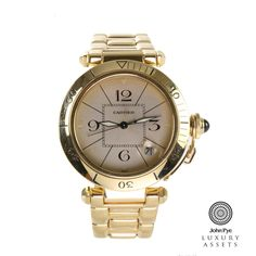 #Cartier Pashe gents 18ct #Gold #Automatic #Watch. #LuxuryWatches OnlineAuction #JohnPyeAuction