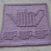 Teapot II Dishcloth - via @Craftsy