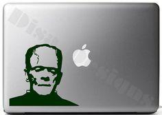 Frankenstein, Boris Karloff's Frankenstein inspired vinyl decal - Macbook decal - Car decal - Halloween decal