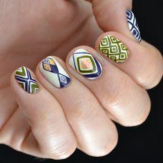 Sizzlin' Summer Nails: 15 Nail Art Designs We're Loving Nail Art Blog, 3d Nail Art, Nail Nail, Top Nail, Nail Polish, Nail Art Designs, Nails Design, Aztec Designs, Essie