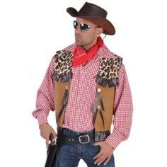 Déguisement gilet cowboy western homme deluxe