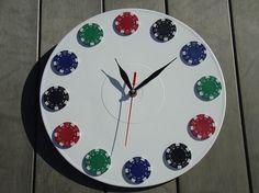 Wall Clock Casino White Table modern wall clocks by OlgaArtShop, $53.00
