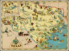 We're doing these cool vintage maps in the nursery - TX, CA and CO